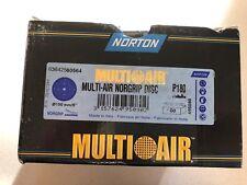 "Norton Multi Air Norgrip Disc Box of 100 P180 6"" NOS"