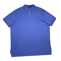 Polo Ralph Lauren Pima Soft Touch Mens 2XL Blue Short Sleeve Polo Shirt