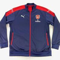 Adidas Arsenal Gunners Men's Anthem Bomber Track Jacket Blue Red • 2XL