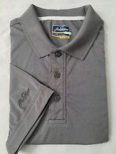 Jack Nicklaus StayDri Solid Grey Polo Shirt Medium Short Sleeve Golf sport Gear