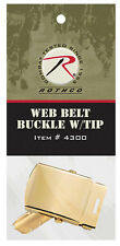Gold Brass Belt Buckle With Tip For Web Belts Military BDU Belt Rothco 4300