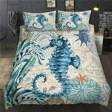 Animal Products 3D Hippocampus Design Duvet Cover Queen Size & Pillowcase