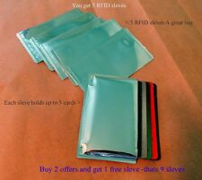 5 RFID High Level Blocking-Credit Card Sleeves like a pouch and Waterproof!!