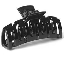 women large plastic hair accessory grip claw clips clamps arched crocodile black