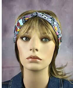 Sally and Jack Twisted Headband Turban for Mask Made in Usa Ready to Ship Cotton