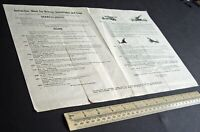 1950s Vintage Instruction Sheet/Catalogue for Britain's Searchlights & Guns