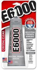 E6000 CRYSTAL CLEAR Adhesive Glue 80.4g Tube - Industrial Strength - Metal/Wood