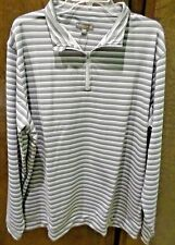 Peter Millar XXL Crown Sport 1/4 Zip Golf Pullover Shirt smoke gray NEW $115