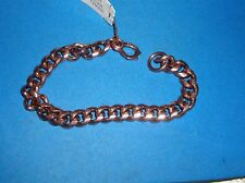 "Mens Solid Copper Medium  Curb Chain  Bracelet  8 1/4""  New / safety clasp"