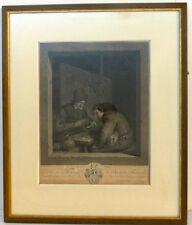 Kupferstich, Adriaen van Ostade, Graveur J. G. Wille, BONS AMIS,