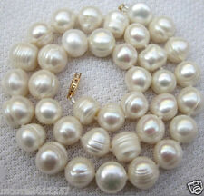 CLASSIC HUGE 11-12mm SOUTH SEA BAROQUE PEARL NECKLACE 20 INCHES