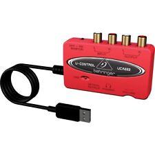 BEHRINGER U-CONTROL UCA222 interfaccia scheda audio usb con uscita ottica
