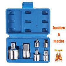 """Adaptadores para Llaves de Carraca 1/2"""" 3/8"""" 3/8"""" 1/4"""" 3/8"""" 3/4"""" hembra A macho"""