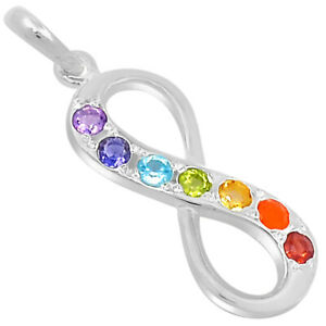 Infinity Chakra 925 Sterling Silver Pendant Jewelry SSS CP129