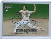 2019 Topps Stadium Club Josh Rogers On Card Autograph RC Baltimore Orioles