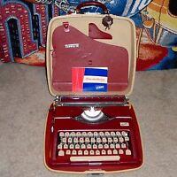 Antique Gossen Tippa Portable Typewriter With Case Key & Manual Vintage - Works