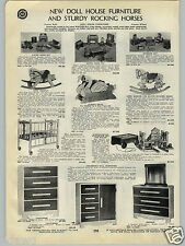 1940 PAPER AD Dollhouse Doll House Furinture Lone Ranger Silver Rocking Horse