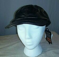 Leather baseball cap - Giovanni Navarre - Adjustable strap - one size style NEW