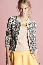 146723 Nw $268 Essentiel Antwerp Anthropologie Etched Blooms Jacket Blouse Top M