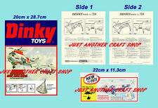 Dinky Toys 724 Sea King Helicopter Instruction Leaflet & 2 Posters Adverts Signs