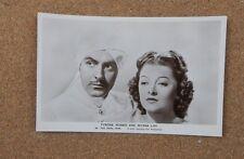 Tyrone Power & Myrna Loy Film Star Real Photograph Postcard xc2