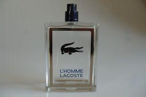L'Homme Lacoste Parfum Flasche Flakon leer 100 ml für Sammler
