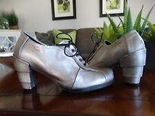 EJECT Metallic silver Lace-up heels 38 $310.00