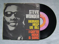 "STEVIE WONDER""HEAVEN HELP US ALL  disco 45 giri TAMLA MOTOWN, ITALY, 1970"""