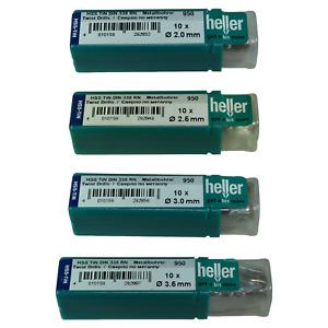 Heller HSS-TIN Titanium Ground Twist Metal Drill Bits 10 Pack - Pick Your Size