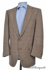 CARROLL & COMPANY Browm Plaid Check Tweed Wool Sport Coat Jacket - 42 R