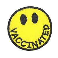 """Vaccinated You Are Welcome Embroidered Iron On Patch 3.1 x 2.1/"""" 2020 Vaccine"""