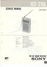 Sony-icf-210l 403s 480l 480s 603 - 5x Service Manual-b2375