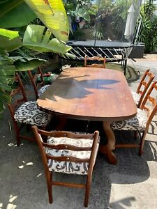 Antique Solid Timber dining table and chairs Price Reduced .
