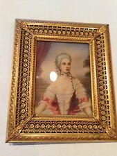 ANTIQUE Ornate Gold Frame With Woman's Portrait