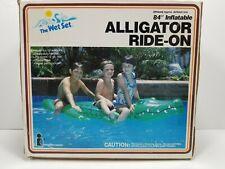 "Vintage Intex The Wet Set 84"" Inflatable Alligator Ride-On 1985 NIB! FREE SHIP!"
