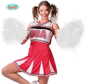 Cheerleader Fancy Dress Pom Poms White Pom New fg
