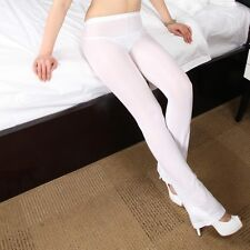Women/Lady See Through Trousers Pants Transparent Sheer Skinny Fitness Leggings