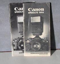 Handleiding Canon Speedlite 199A , gebruiksaanwijzing. NL.