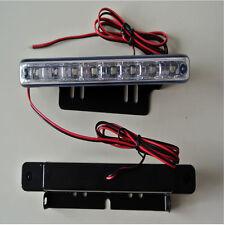 8 LED Car Light DRL Fog Driving Daylight Daytime Running LED White Head Lamps UK