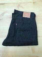 Men's Levi's 501 Classic Straight Leg Black Jeans W36 L30 (#A646)