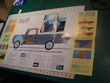 vintage FORD TRUCK Brochure: 1963 FORD PICK UP brochure fold out poster COOL