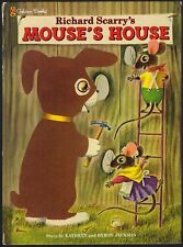 Children's Golden Book ~ MOUSE'S HOUSE ~ Richard Scarry Oversized