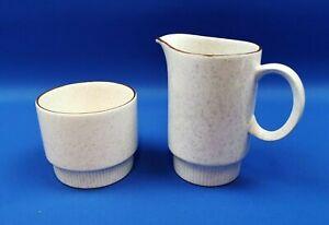 Vintage Poole Parkstone Milk Jug & Open Sugar Bowl