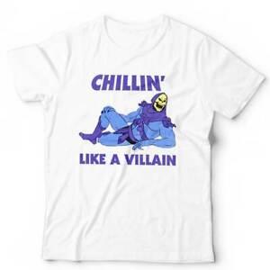 Chilling Like A Villain Tshirt Unisex & Kids - Skeletor, Funny, 80s, Retro