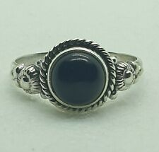 Brand New Sterling Silver 925 Onyx Ring Size L1/2