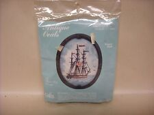 New Antique Ovals Needle Point Frigate P684 kit with frame by Cathy