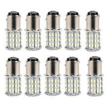 10Pack NEW White 1157 RV Camper Trailer 64 SMD LED 1206 Interior Light Bulbs