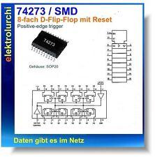 74hct273d - 8-Bac D-Type Flip-Flop avec reset, IC SMD sop20, 74273, 3st.