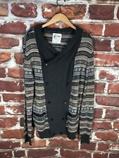 AllSaints XL Aztec Isle Shawl Label Western Double Cardigan Sweater