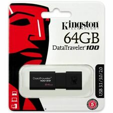 Kingston® DataTraveler® 100 G3 64GB USB 3.0 Flash Drive Stick Pen Memory DT100G3